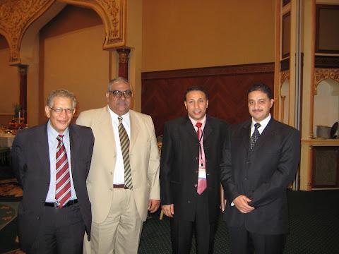 مع أ د طلعت أسعد، أ د عبد القادر مبارك، أ د أسامة سعيد عقب إلقاء بحث عن الرقابة الرقمية
