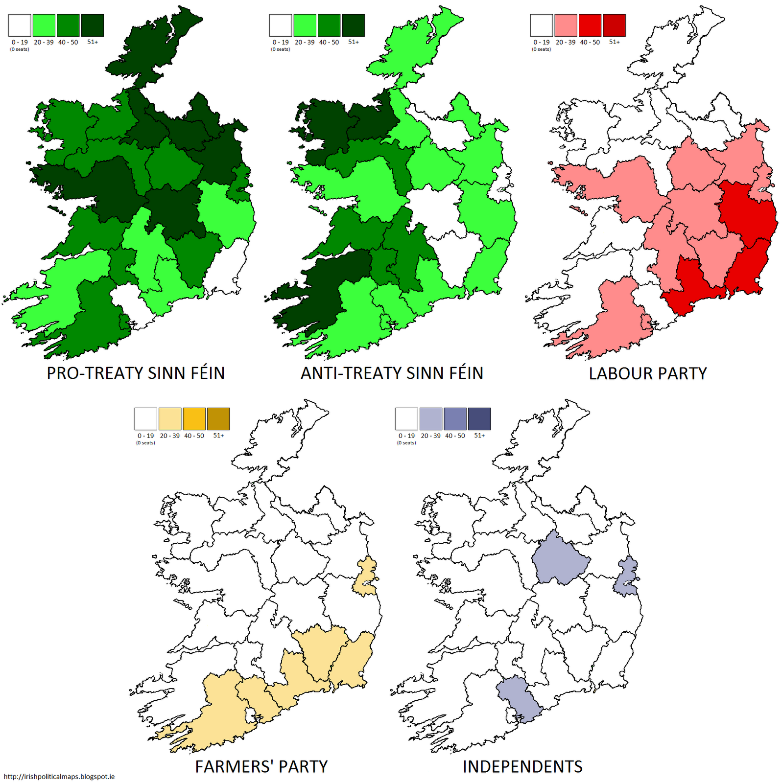 summary of the seats won in the 1922 general election click to enlarge detailed maps below