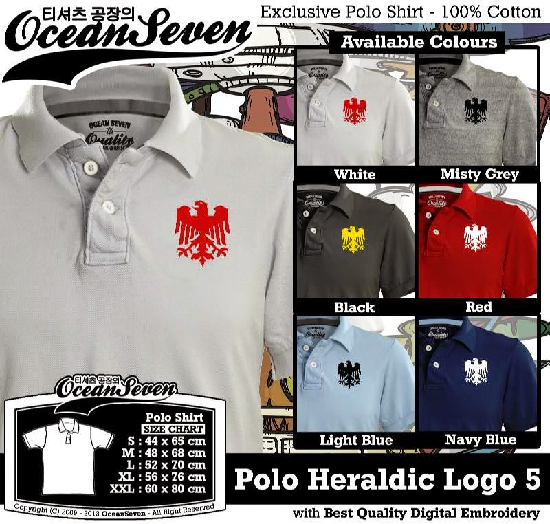Kaos Polo Heraldic Logo 5