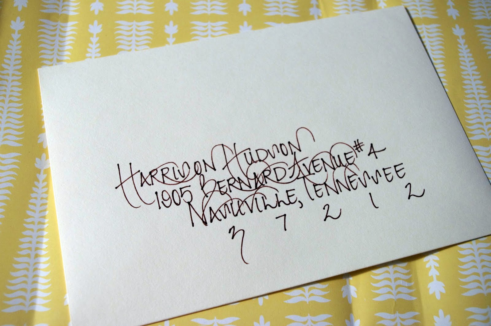 Penned And Pretty A Calligraphy Shop Envelope