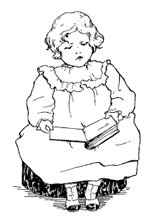 child girl reading image