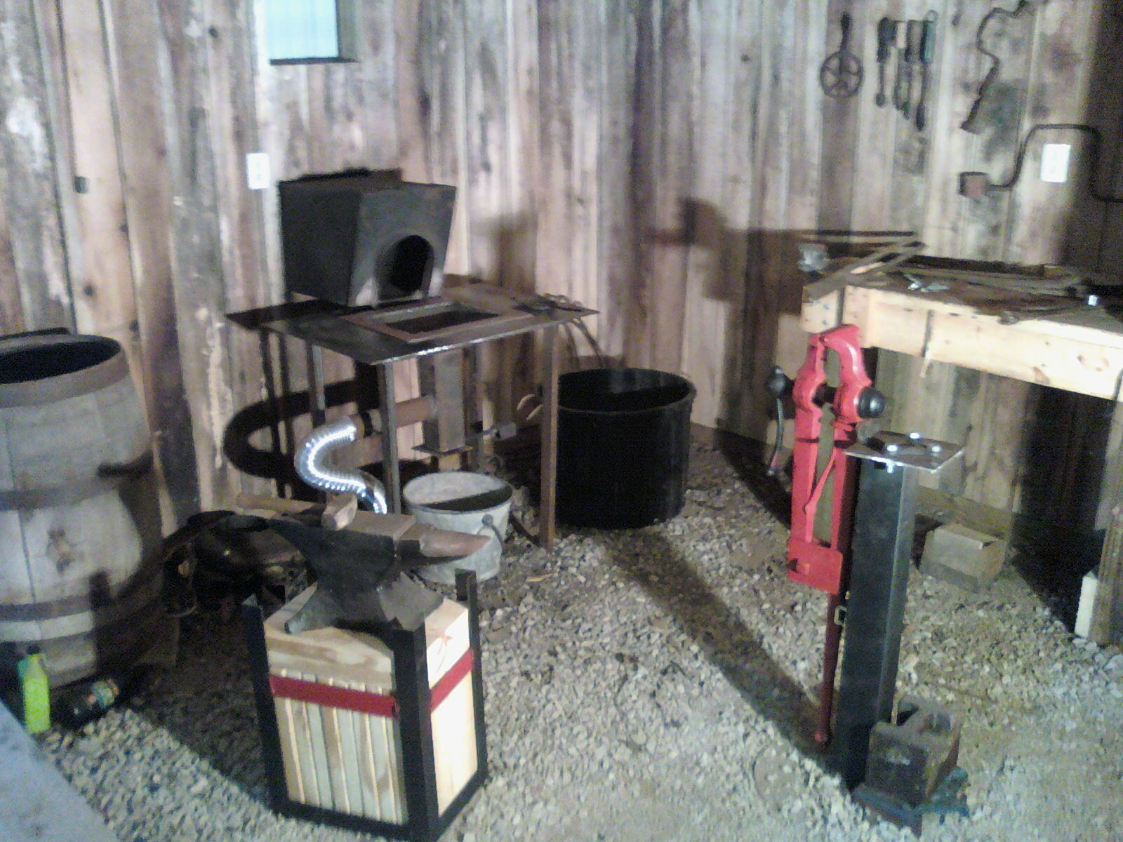 My Life On The Farm New Blacksmith Shop Setup And Table