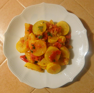 Summer Squash with Fresh Tomato Sauce Plated