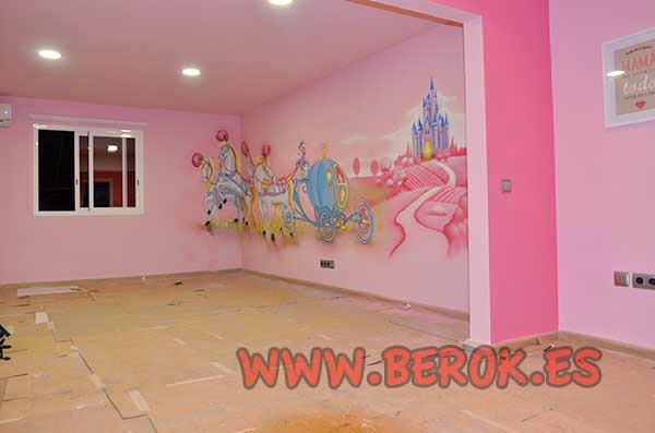 Berok graffiti mural profesional en barcelona murales - Pared decorada con fotos ...