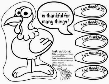 Thanksgiving templates black and white