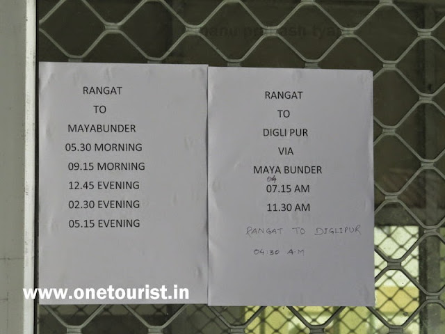 bus timing and information of rangat bus stand , andaman