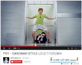 Psy celebrates as 'Oppa Gangnam Style' hits 2 billion-mark on Youtube