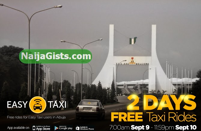 easy taxi abuja free rides