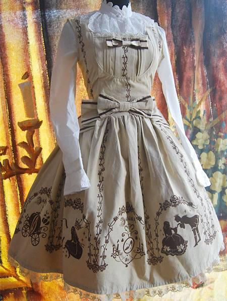 Gorgeous Velveteen Printed Rococo Lolita Dress