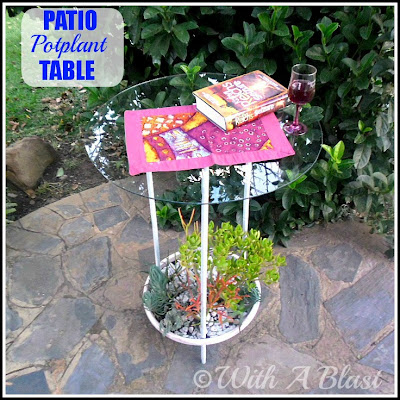 With A Blast: Patio Potplant Table {unusual but fun!}