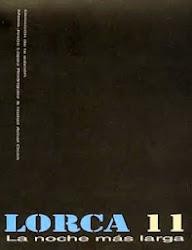 """Antología poética """"Lorca 11. la noche más larga"""""""