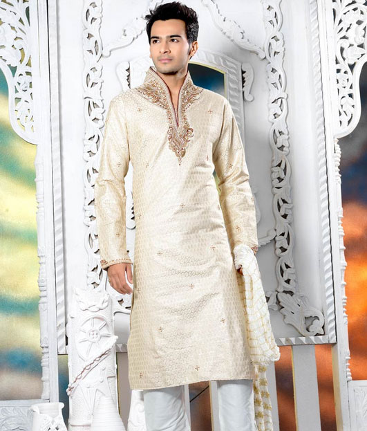 Gent Stylish Kurta 2012-13 | Embroidered Kurta Pyjama For Men | Wedding Kurta Pajama Designs - B ...