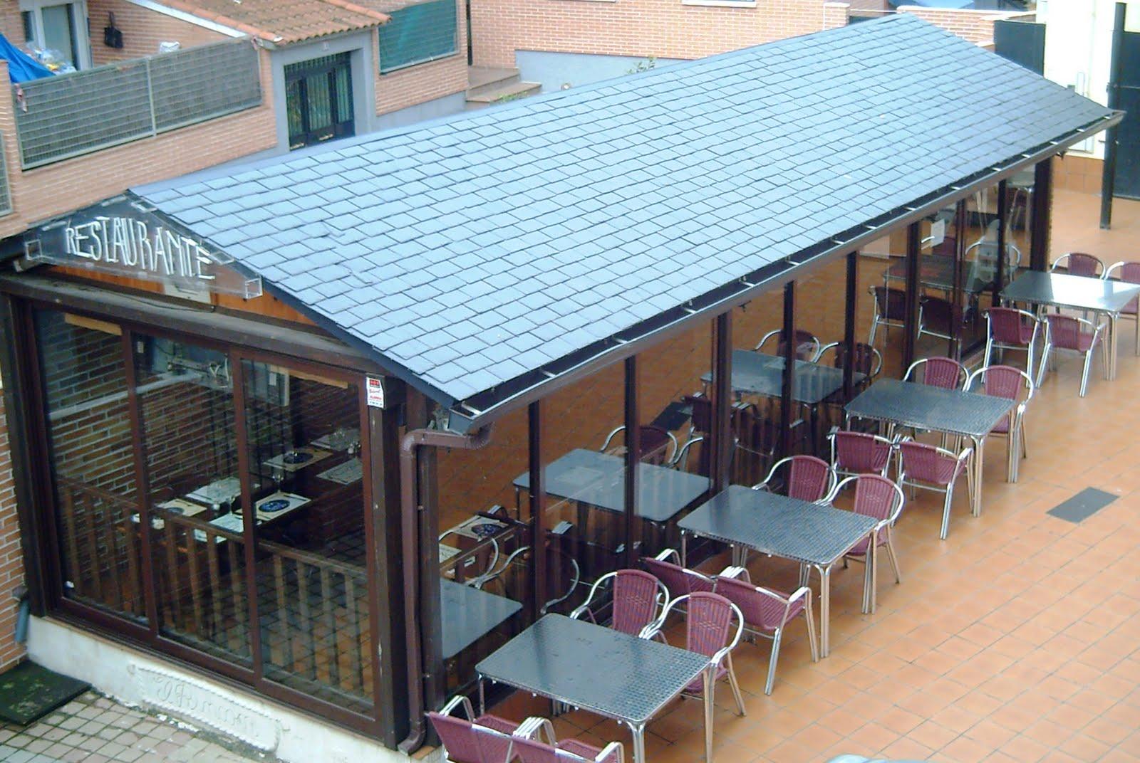Estructuras met licas y cerramiento para restaurantes for Tejados prefabricados