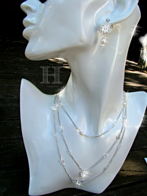 Multi-Strand Simple Elegance - Necklace & Earrings