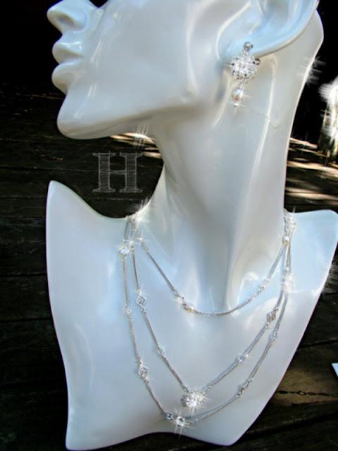 Multi-Strand Simple Elegance - Necklace & Earrings