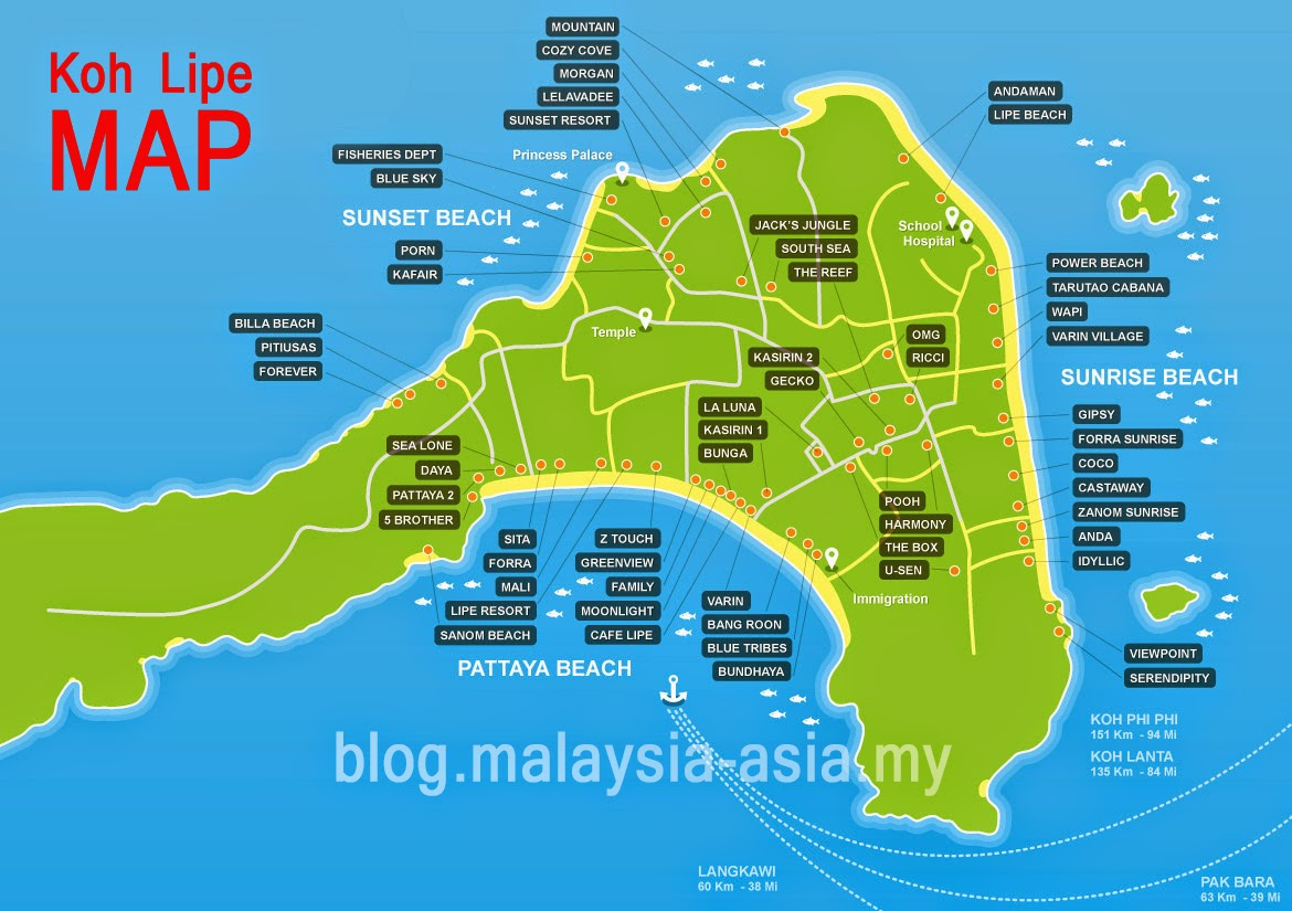 Map of Koh Lipe