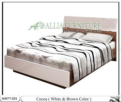 Tempat Tidur Minimalis Modern Terbaru Cocoa White