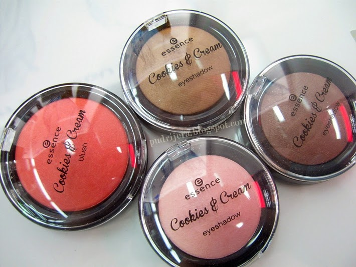 Essence Cookies and Cream eyeshadow, blush