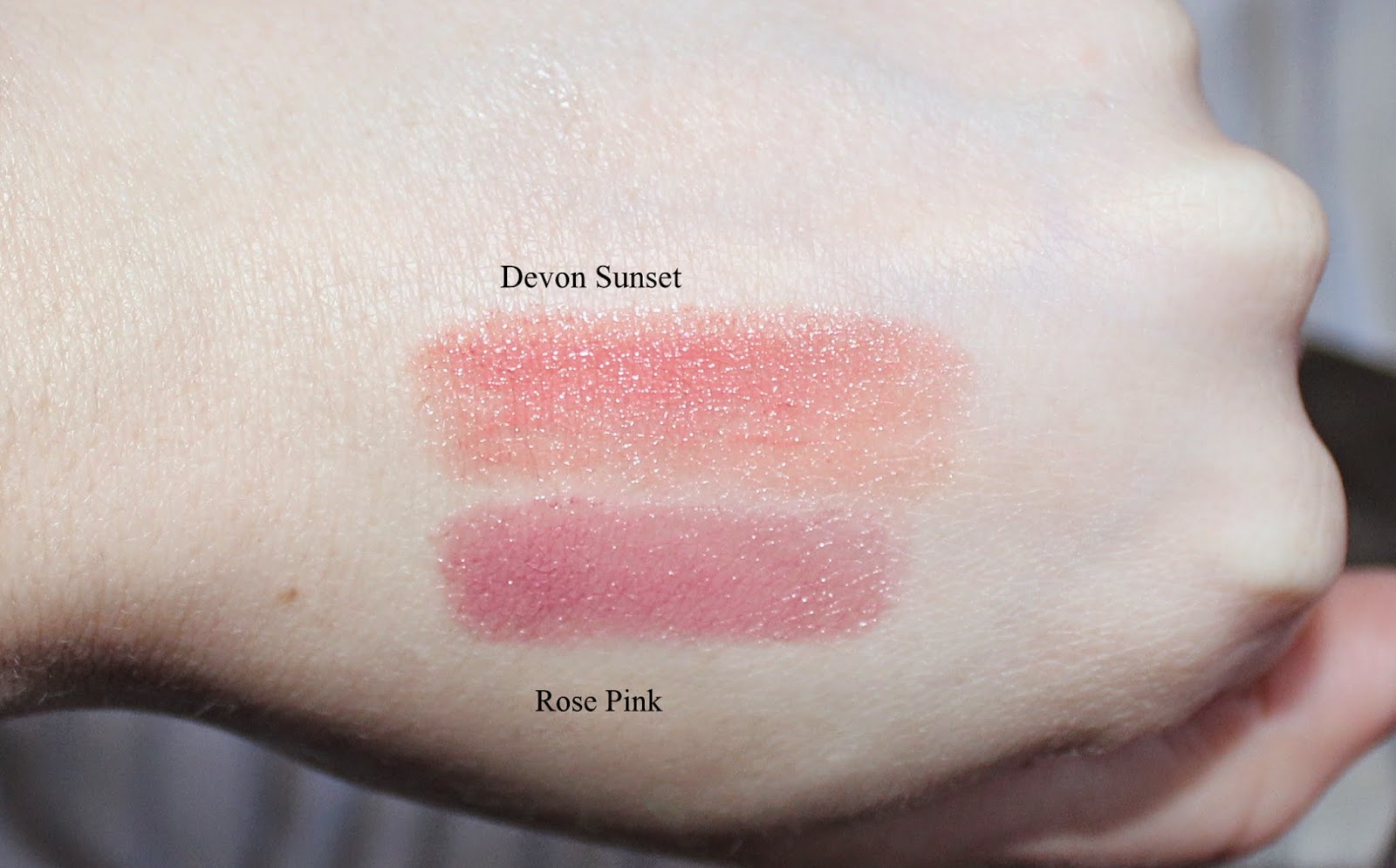 Burberry Kisses in Devon Sunset & Rose Pink