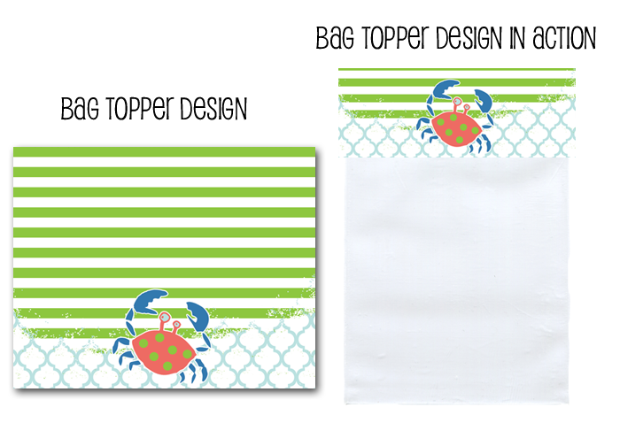 http://www.partyboxdesign.com/item_1554/Polka-Dot-Crabby-Boy-Bag-Topper.htm