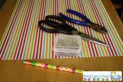 handmade paper pinwheel