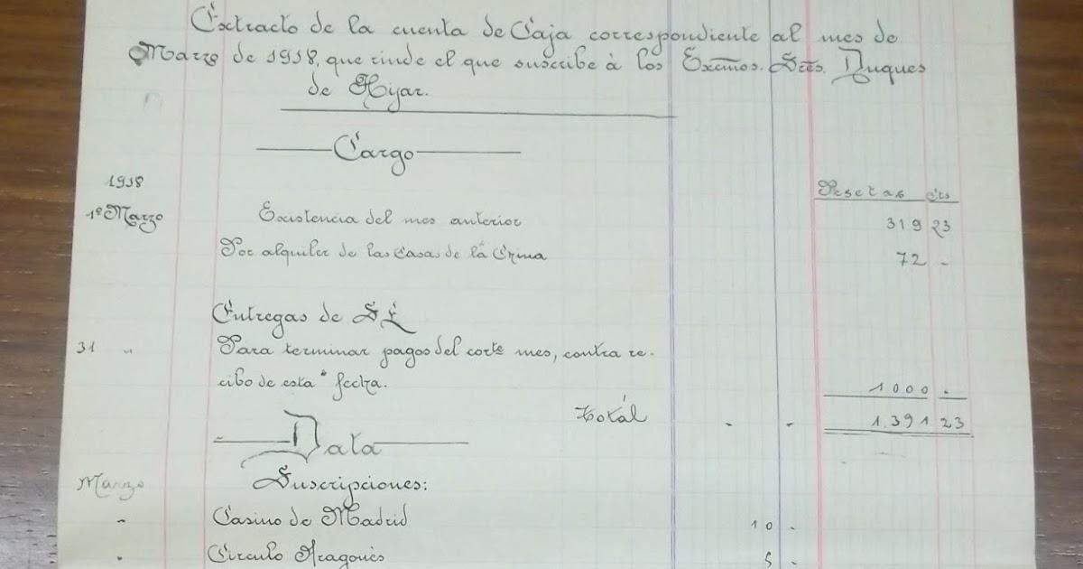 Archivo duques de hijar extracto de las cuentas y - Anos luz castellana ...