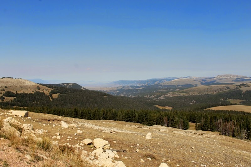 View of Bighorn Mountains from the road to Medicine Wheel
