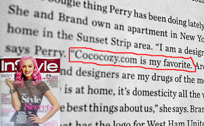 Katy Perry mentioning Nbaynadamas in InStyle Magazine and the InStyle magazine cover