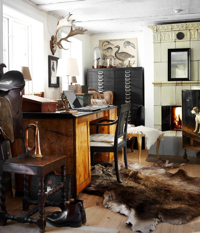 espacio de trabajo con estilo creativo-escritorio antiguo-rustic workspace