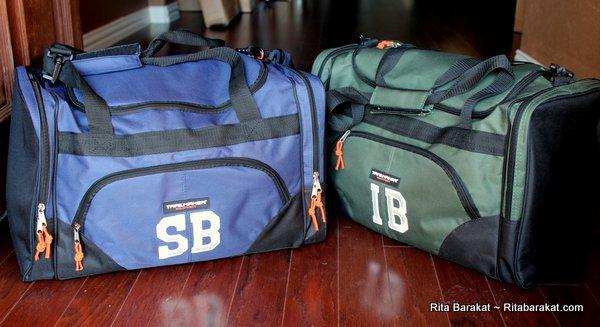 monogrammed duffel bags