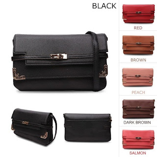 Geralda Strap Locks Clutch Bag, Rp 149 Ribu, kode T238
