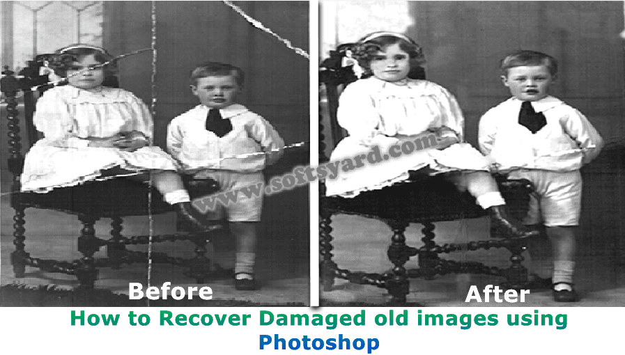 How to recover old damaged images easily using photoshop