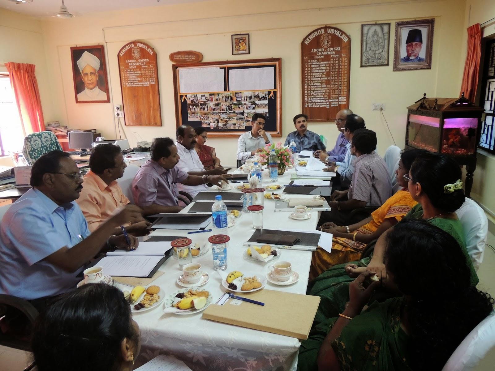 Kendriya Vidyalaya, Adoor(I): VMC Meeting on 24 sept.2013