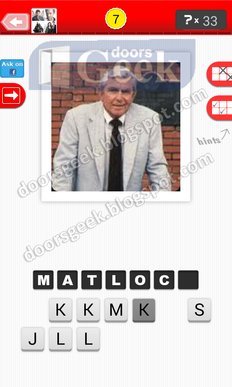 answer matlock guess the tv show level 22 7 answer cheats solution for