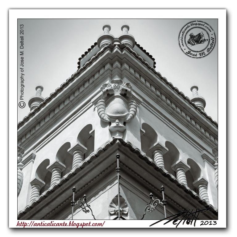 Ant c detalles de una ciudad edificio de correos for Oficina de correos alicante
