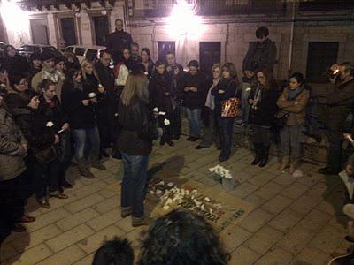 Imagen durante el acto en recuerdo de las mujeres  asesinadas de el 2011