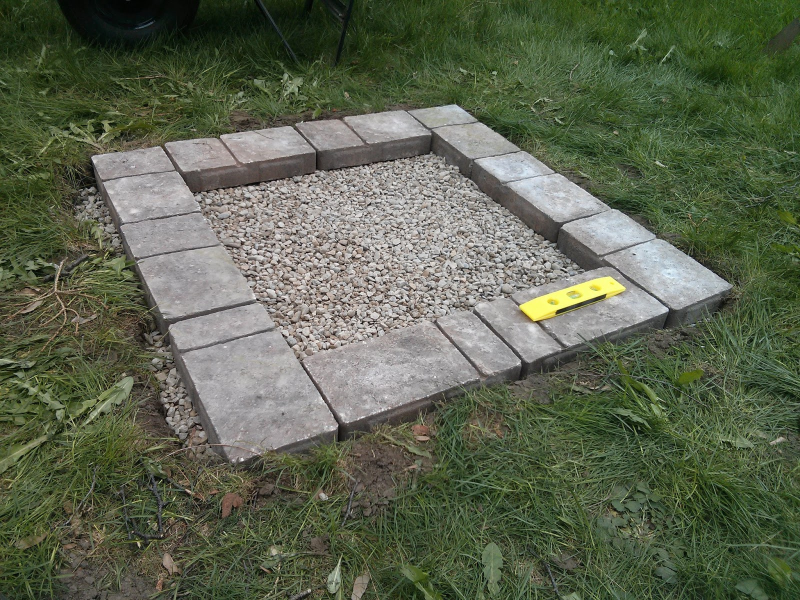 Divinely gifted mothers day diy fire pit for How to build a fire pit with concrete blocks