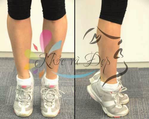Nhón chân bài tập đơn giản giúp cho phần cẳng chân bạn thon và tròn hơn.