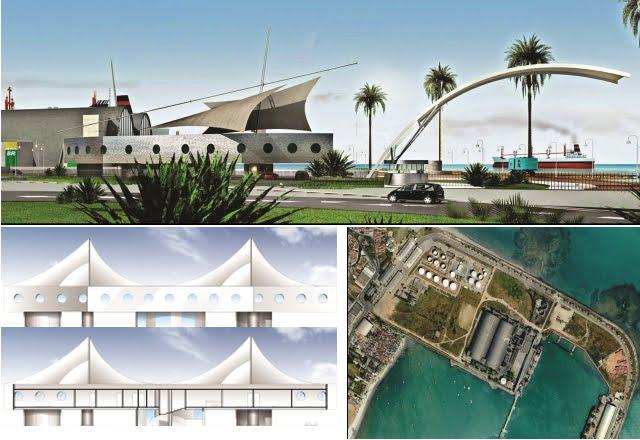 Projeto para a nova sede administrativa do Porto de Maceio