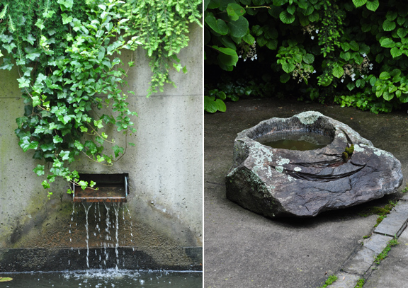 Three dogs in a garden pin ideas small water features for Small garden pond design ideas uk