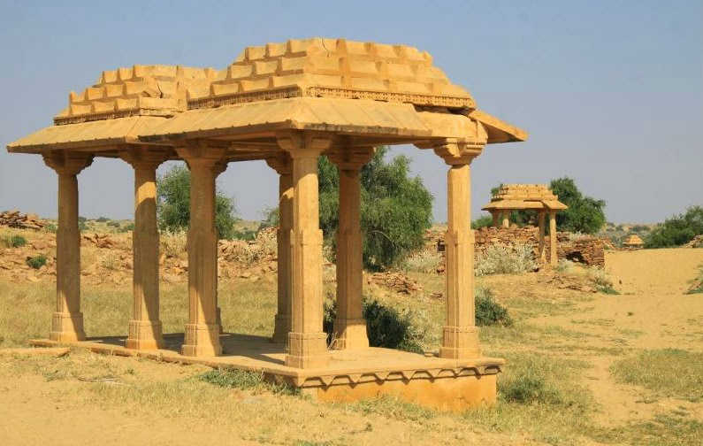 One of the magnificient structures in Kuldhara