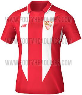 Bocoran Jersey Sevilla 2015/2016 untuk partai kandang