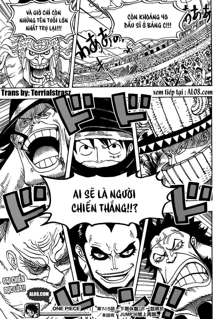 One Piece Chapter 715: Bảng C đại diện 017
