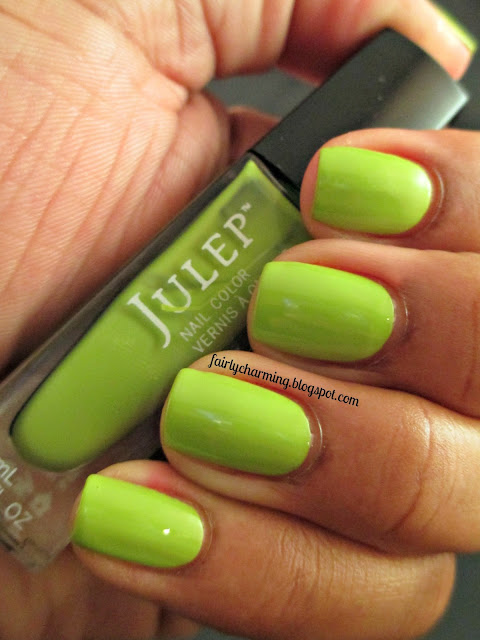 Julep Korin, green, lime green, swatch, Sundays Are For Swatching, nails mani