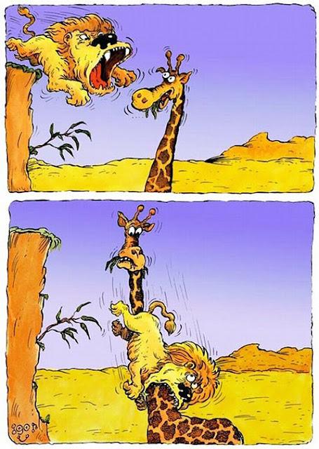 O leão e a girafa