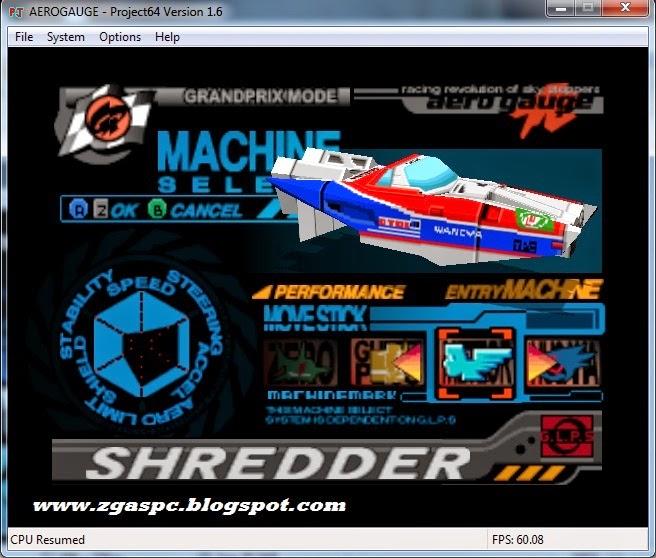 Download Games AERO GAUGE Game Nitendo64 Untuk PC 100% WORK