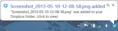 DropBox for Windows - Incoming Notification