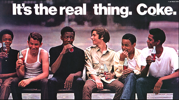 Coke's iconic 1969 ad, Boys on a Bench