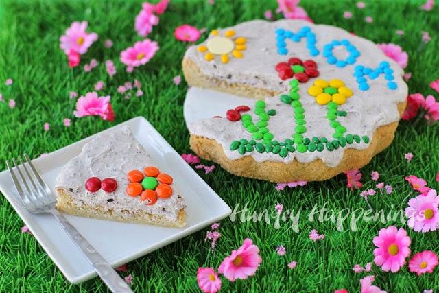 Mother's Day Dessert Idea - Sugar Cookie Garden Stone | HungryHappenings.com