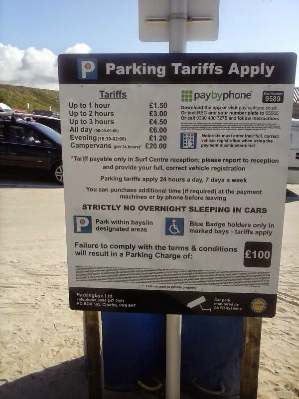 Parkingeye Issue Scam Parking Charge At Fistral Beach